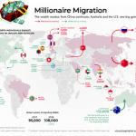 億万長者に人気な国が一目で分かるマップ
