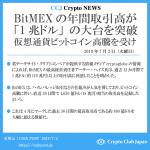 【一押しツイートまとめ】BitMEXの年間取引高が「1兆ドル」の大台を突破、仮想通貨ビットコイン(BTC)高騰を受け