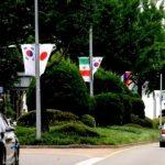 ソウル江南区が2日、日本政府のホワイトリスト(輸出審査優待国)の排除措置に対する抗議を示すとして、江南の通りにある万国旗の中から、日本国旗を撤去することにした