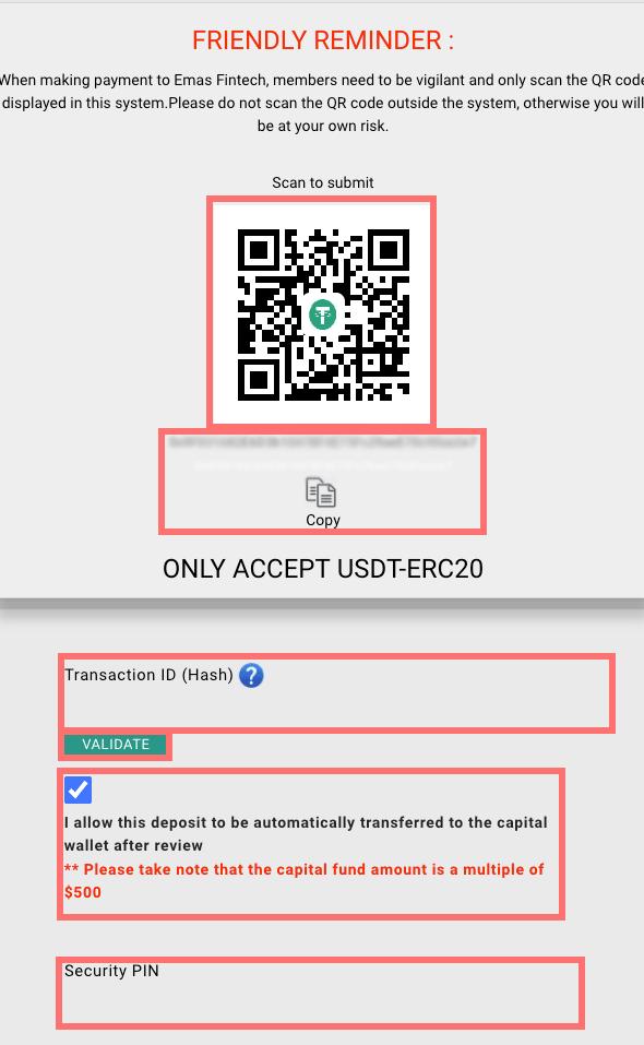 Emasの入金方法