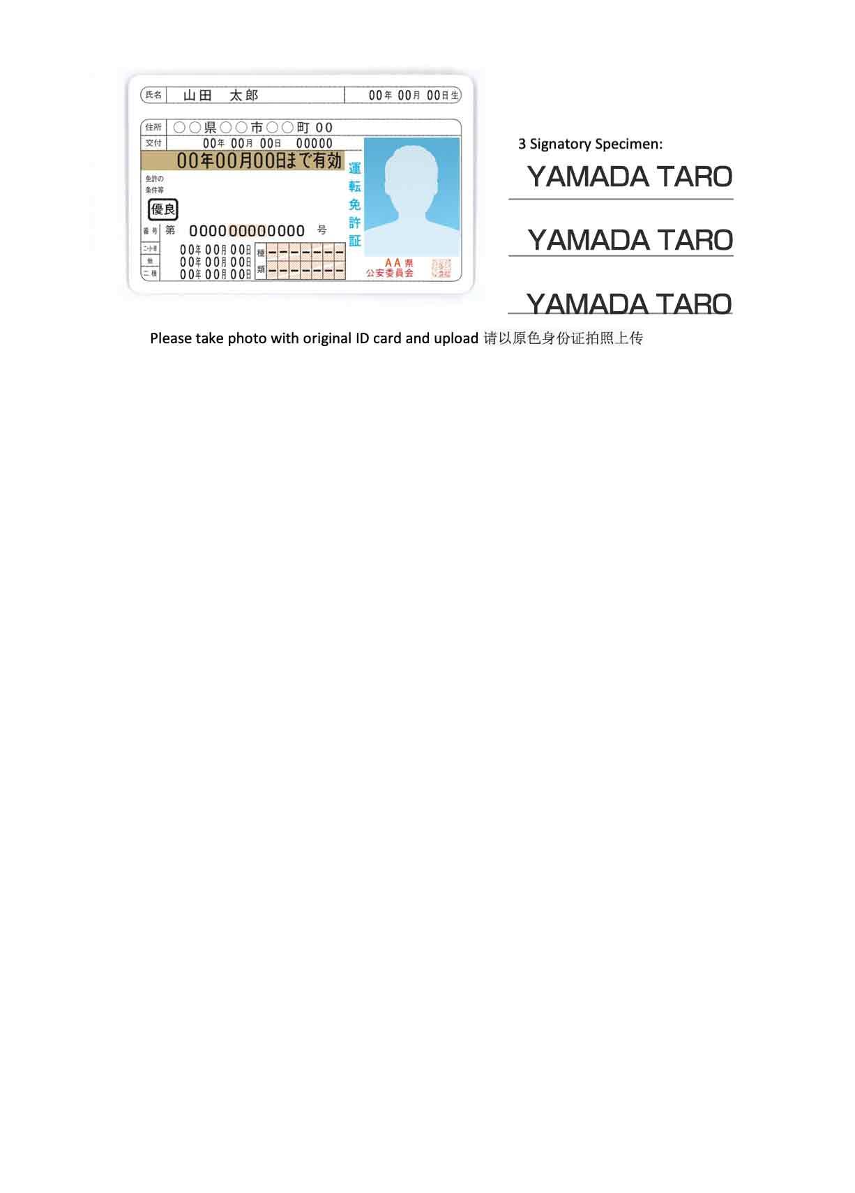 免許証の場合